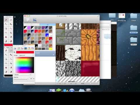 How to make/change your own minecraft texture pack on a MAC
