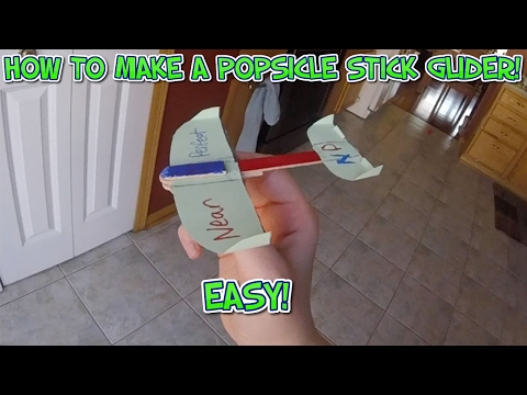 HOW TO MAKE AN EASY POPSICLE GLIDER THAT ACTUALLY FLIES!