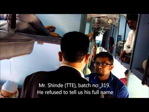Corruption by TTE in Indian Railways
