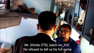 Corruption by TTE in Indian Railways