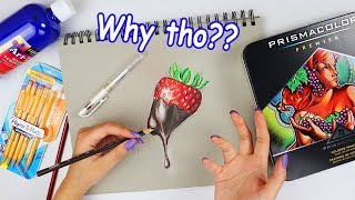 Just the worst...DRAWING USING ONLY THE SUPPLIES I HATE!