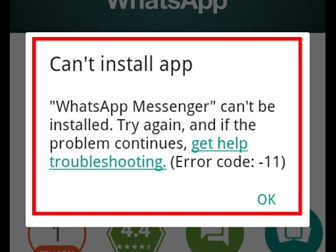 How to fix Can't install app-Error code 11 in Google Play store