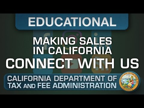 Contacting the CDTFA - Making Sales in California