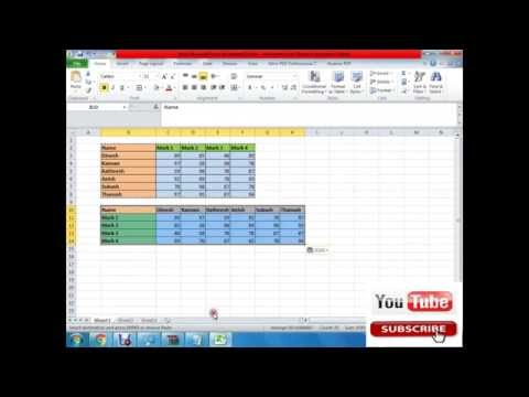 Convert rows to column and columns to rows in excel Tutorial