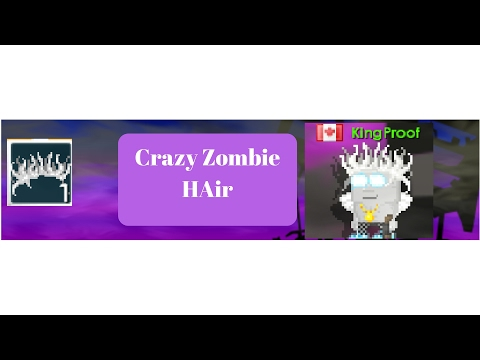 Growtopia-Crazy Zombie Hair + Recipes
