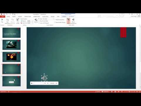 How to Add Audio to a PowerPoint 2013 Presentation For Dummies