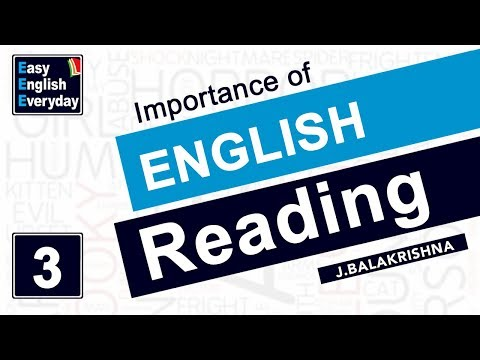 English Tutorials for beginners | Importance of English Reading | Online English Grammar videos