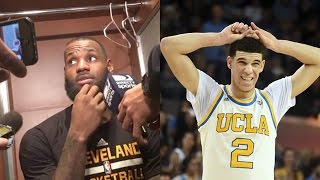 LeBron James WARNS Lonzo Ball