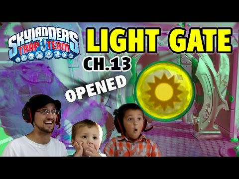 LIGHT ELEMENT GATE Opened in Chapter 13  Skylanders Trap Team Unknown Mystery Unlocked!!