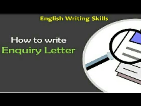 Enquiry letter writing....