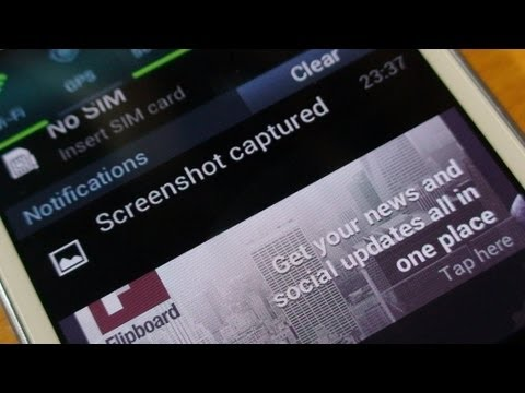 How to take a screen shot on Samsung Galaxy S3 Mini