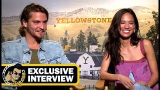 Luke Grimes and Kelsey Asbille YELLOWSTONE Interview! (JoBlo.com Exclusive)