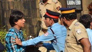 Camera set up outside Shah Rukh Khan