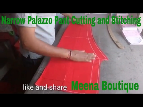 narrow palazzo pant  cutting and stitching