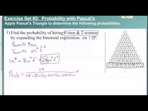 Lesson 9 6   Exercise Set #2 Probability with Pascal's