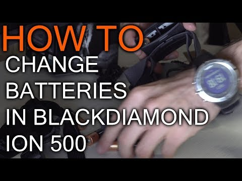How to Replace Batteries in Black Diamond icon 500