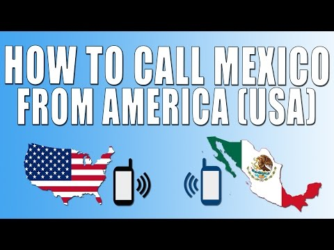 How To Call Mexico From America (USA)