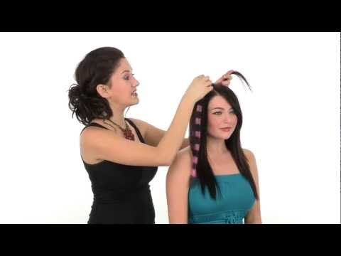 Clip in Color Hair Extensions by POP   Put On Pieces   Bright Stripes