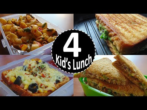4 Indian Lunch ideas | Kids Lunch Box Recipes | Kids Tiffin