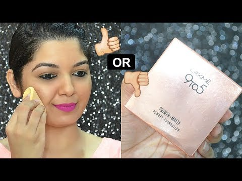 LAKME 9to5 PRIMER + MATTE POWDER FOUNDATION | REVIEW