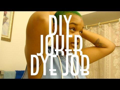 DIY JOKER DYE JOB | mixing manic panic on natural hair