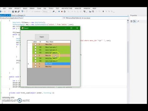 c# window form Fill gridview with two Tables