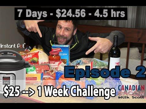 Instant Pot 1-Week $25 Challenge – Episode 2 of 4  - 1st Cook