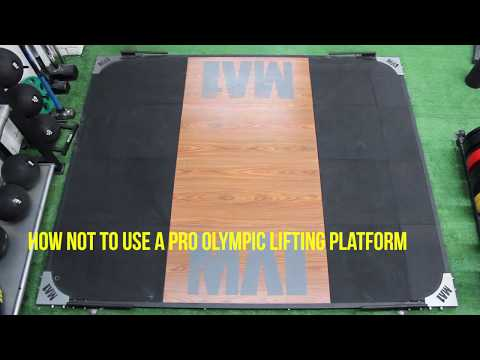 Dance moves on the MA1 Pro Olympic Lifting Platform