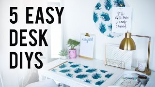 5 EASY DIY Desk Decor & Organization Ideas | ANN LE