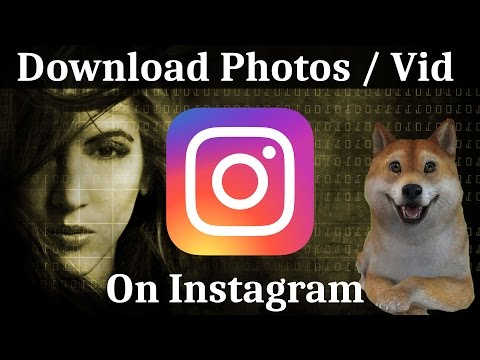 How to Download Any Photo or Video From Instagram | Windows PC  Tutorial 2017