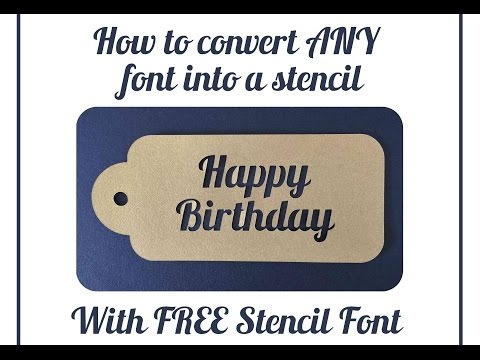 How to Convert Any Font To Stencil in Silhouette Studio