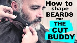 HOW TO TRIM AND SHAPE BEARDS with THE CUT BUDDY | WEZSTYLES
