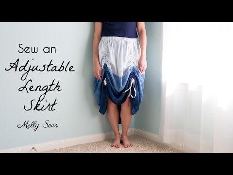 Sew an Adjustable Length Skirt