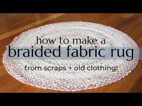 DIY BRAIDED RUG // make a rug from old clothing + fabric scraps!