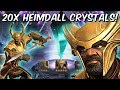 Marvel Contest Of Champions - 20X 5 Star Heimdall & Red Skull Featured Crystal Opening mp3