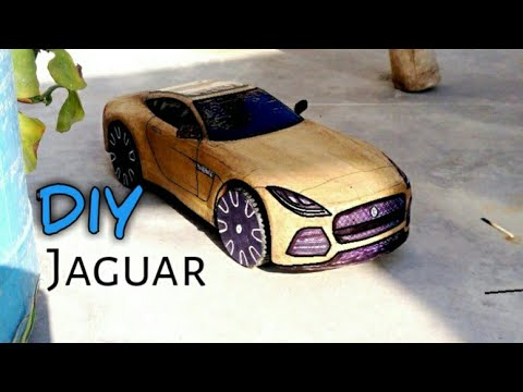 how to make a RC Car ( JAGUAR F-TYPE ) DIY Amazing Cardboard Super car, cardboard paper craft toy