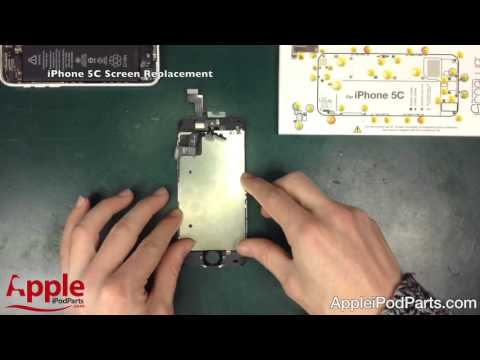 How To Replace a Broken Apple iPhone 5C Screen