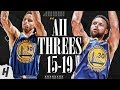 Stephen Curry ALL 121 Three Pointers In 2015 2019 NBA Finals MAKES FINALS HISTORY