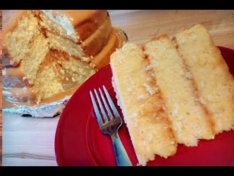 Easy Caramel Cake Recipe (HOW TO MAKE A HOMEMADE CARAMEL CAKE) Kiwanna's Kitchen