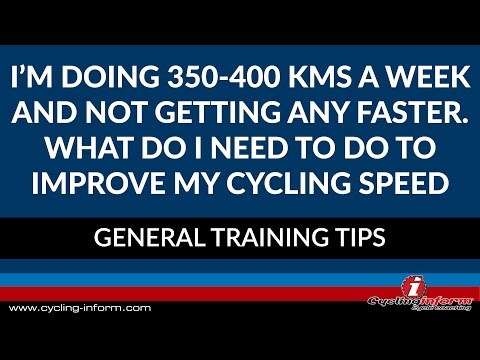 What Do I Need To Do To Improve My Cycling Speed?