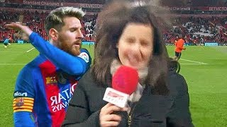 10 FUNNY MOMENTS WITH REPORTERS IN SPORTS