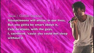 Childish Gambino - U Don't Have To Call - Lyrics