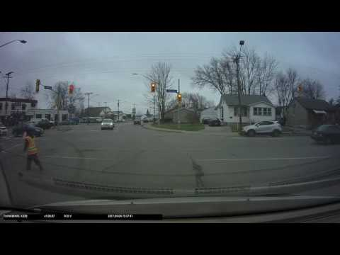 April 04 2017 Crossing Guard not doing their job Southworth and Lincoln in Welland