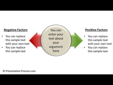 How to Create Pros and Cons Diagram in PowerPoint : Diagram Series