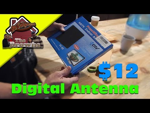 PremWing Indoor Digital TV Antenna 30 Miles Range with High Performance HDTV Antenna Unboxing