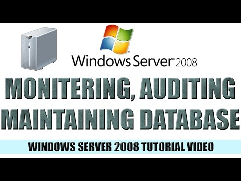 15 Monitoring, Auditing, and Maintaining Your AD Database - Windows Server 2008 Tutorial