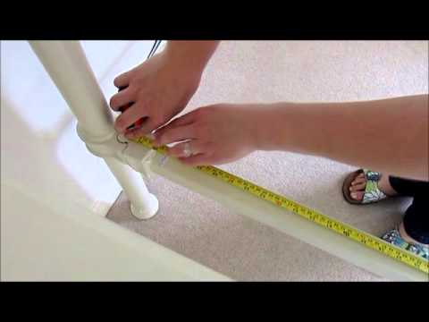 Measuring an antique brass and iron bed for a mattress