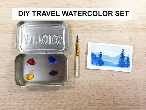 DIY Travel Watercolor Set - AKA Altoids Watercolor