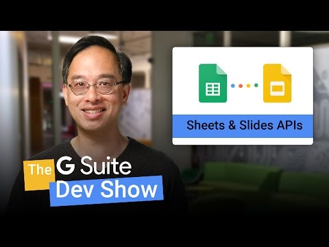Generating slides from spreadsheet data (The G Suite Dev Show)