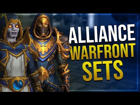 Alliance Warfront Sets Tier 1 -3   In game Preview   Battle for Azeroth!